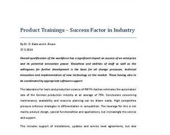 Scope of Product Trainings